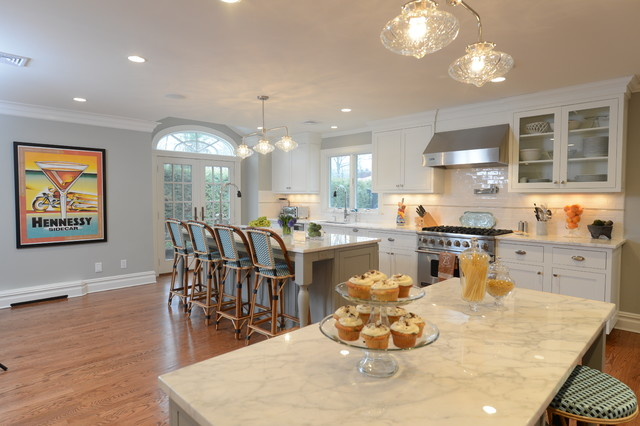 Flat Panel White Paint Flush Inset Cabinetry With Gorgeous