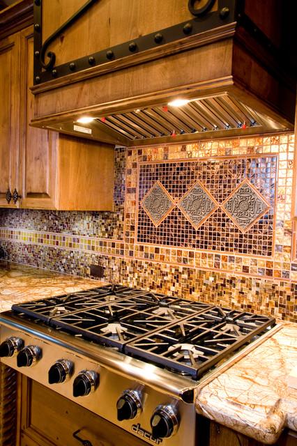 Flaum's Backsplash transitional-kitchen