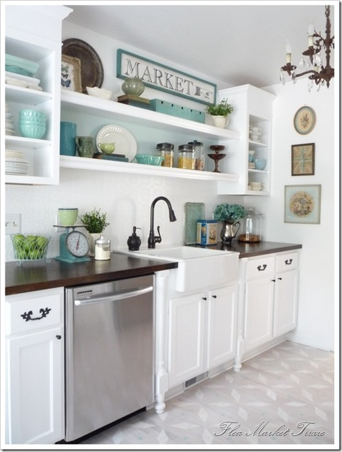 Open Shelving in the Kitchen - Town & Country Living