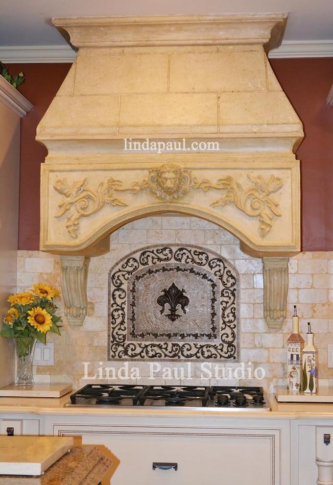 Fleur De Lis Kitchen Backsplash Design Custom Tuscan Hood Traditional Kitchen Atlanta By Linda Paul Studio