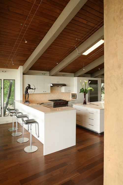 Great Ideas For Lighting Kitchens With Sloped Ceilings - Track lighting for vaulted kitchen ceiling