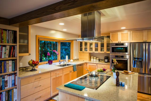 Flip Flop Extension Midcentury Kitchen Seattle By Calico Studio