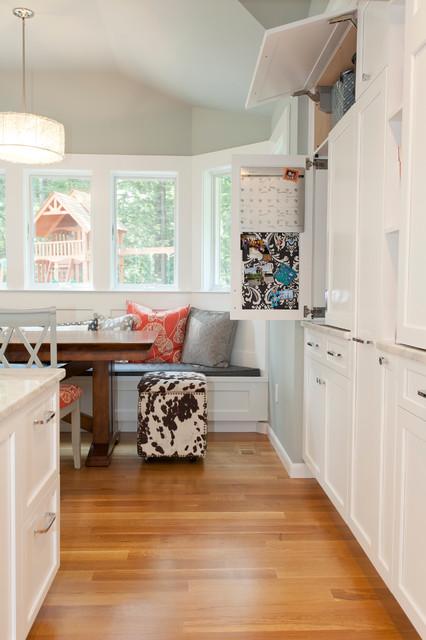 Flip up and retractable cabinet doors traditional kitchen bridgeport by kitchen bath - Retractable kitchen cabinet doors ...