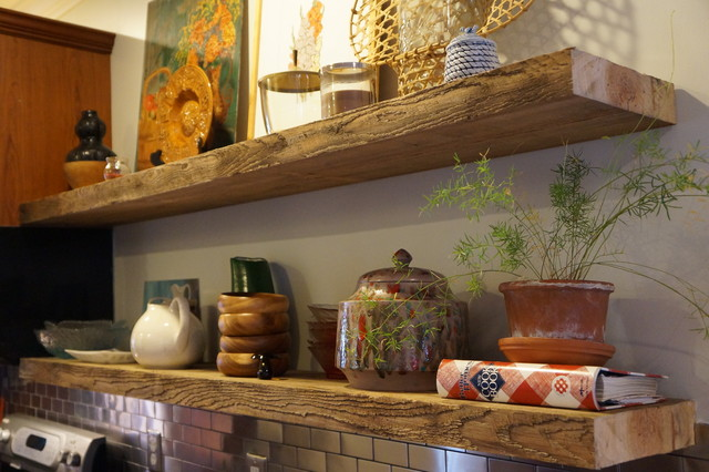 Floating shelves in kitchen - Eclectic - Kitchen ...