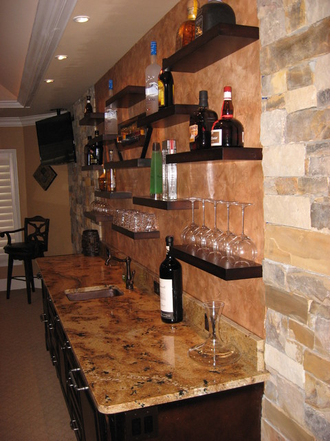 Floating Shelves - Contemporary - Kitchen - atlanta - by True Carpentry and Cabinetry