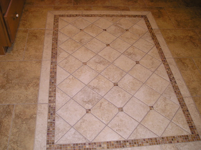 Floor Accent Traditional Kitchen Other Metro By