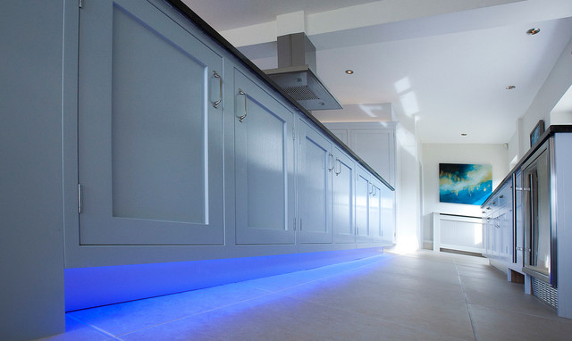 Floor Level Lighting Contemporary Kitchen London By