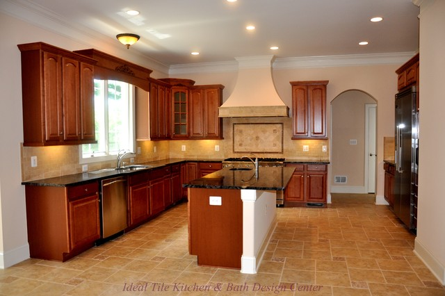 Flooring Traditional Kitchen Dc Metro By Ideal Tile Kitchen Bath Design Center