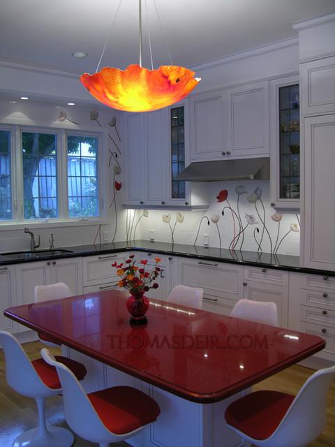 Floral Kitchen contemporary-kitchen