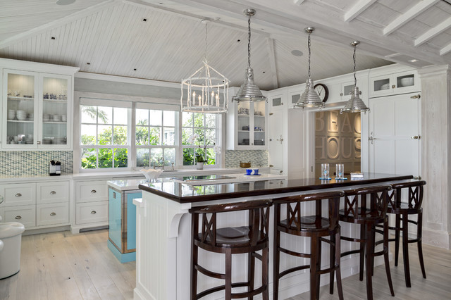 Florida beach cottage beach style kitchen other for Beach house kitchen plans