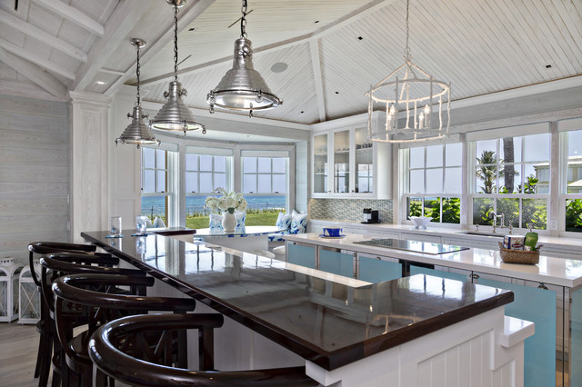 florida beach cottage - beach style - kitchen - miami -village