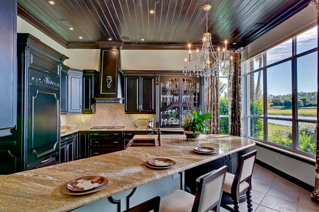 Florida Coach Home Naples Florida Mediterranean Kitchen Charlotte By Michelle Taylor