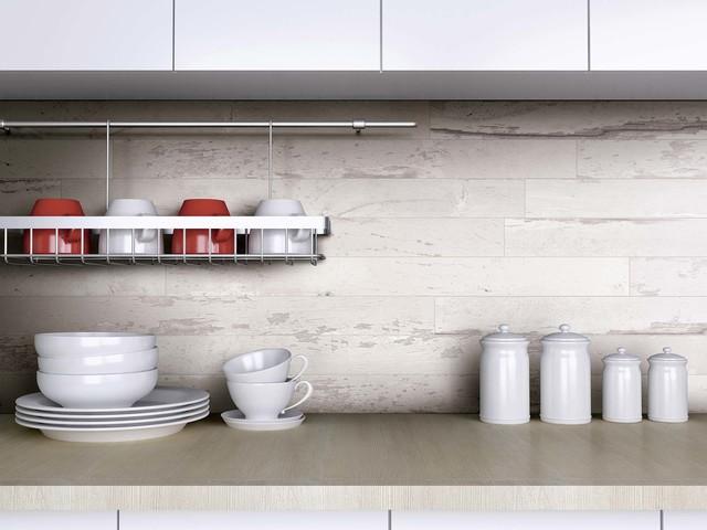 Genial Florim USA Charleston White Wood Look Porcelain Flooring Wall Tile Rustic  Kitchen
