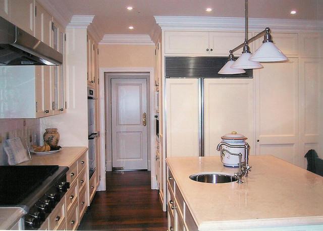 Flower White Kitchen kitchen