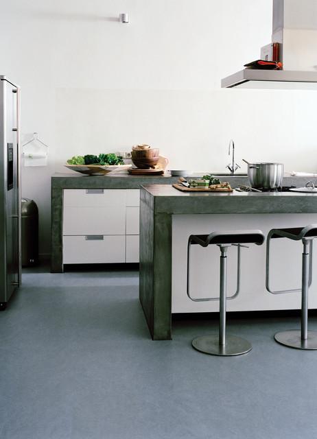 forbo marmoleum click natural linoleum flooring industriel cuisine chicago par. Black Bedroom Furniture Sets. Home Design Ideas