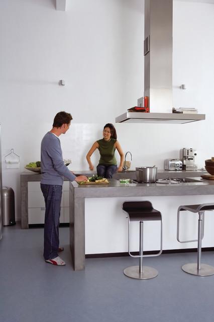 Forbo Marmoleum Click Natural Linoleum Flooring Industrial Kitchen