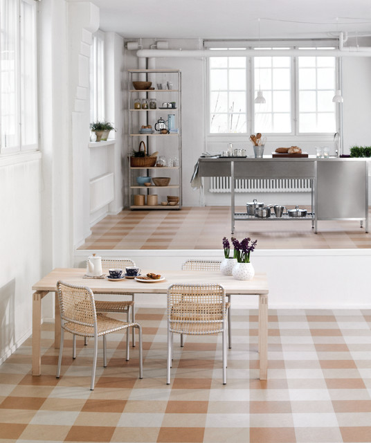 Forbo Marmoleum Click Natural Linoleum Flooring Eclectic Kitchen Chicago By