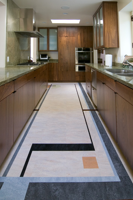 Forbo Marmoleum Dual Tile Modern Kitchen Los Angeles