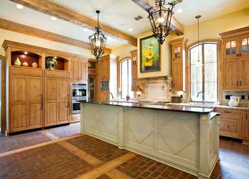 Brick And Wood Floor Install