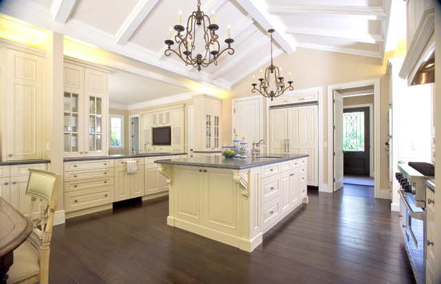 Traditional elegance traditional kitchen san for Kitchen designs with cathedral ceilings