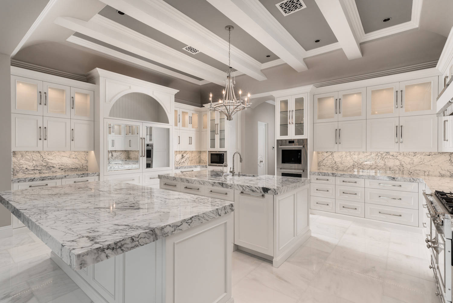 10 Beautiful Modern Marble Floor Kitchen Pictures & Ideas