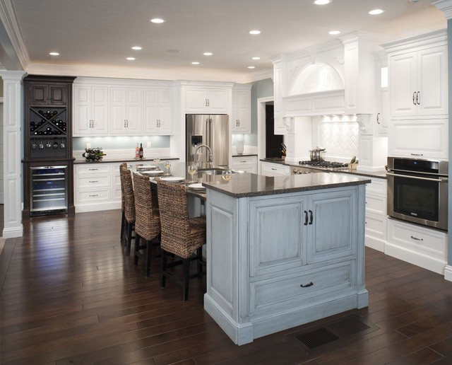 how to make a kitchen backsplash formal white kitchen with blue island mullet cabinet 8735