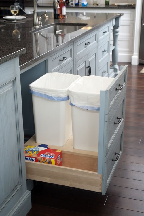 integrated storage in kitchen