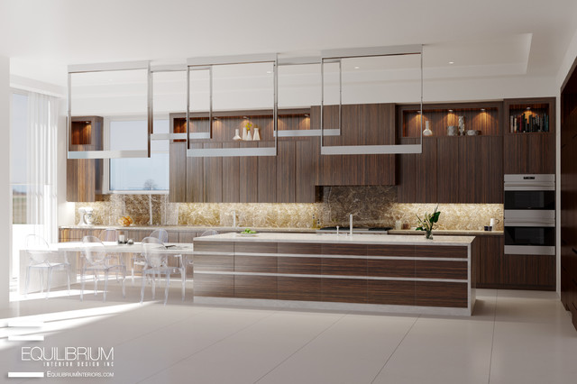 Fort Lauderdale Modern Residence Contemporary Kitchen Miami By Equilibrium Interior
