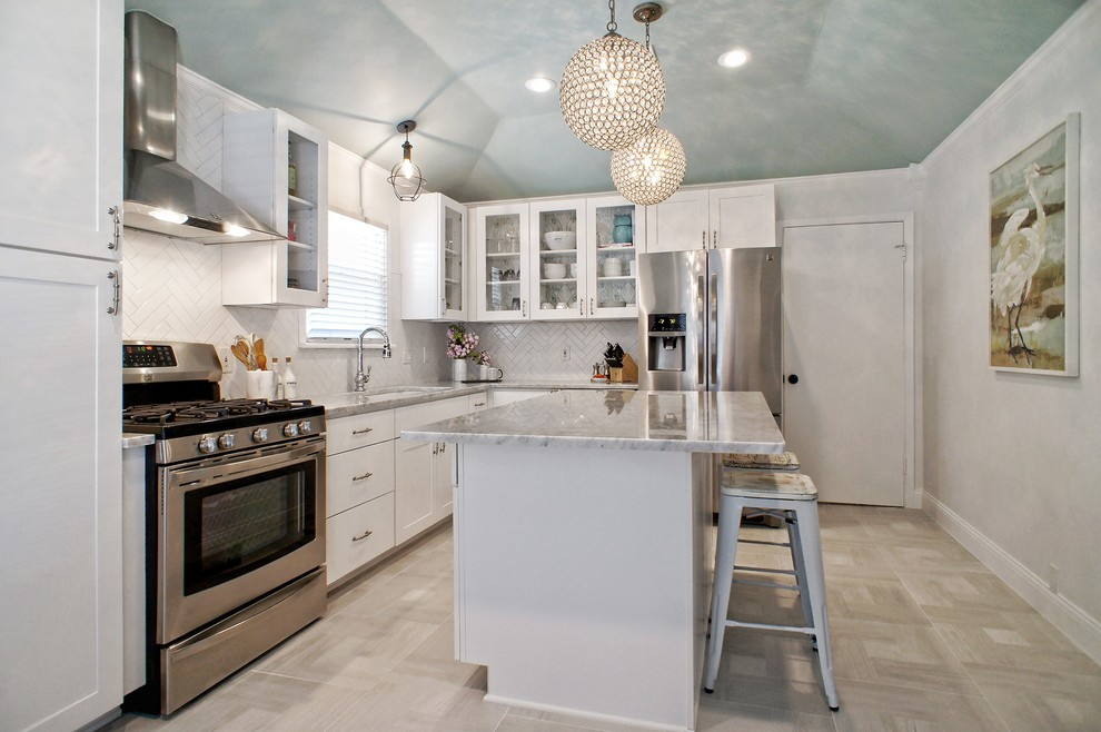 Fort Worth Bungalow - Shabby-chic Style - Kitchen - Dallas ...