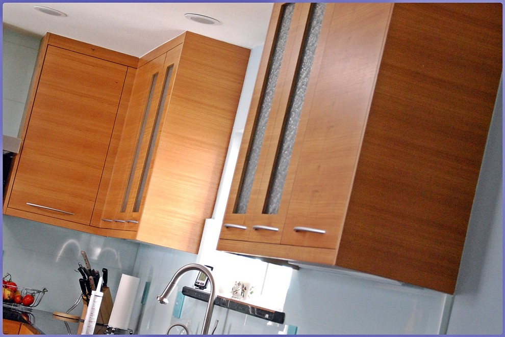Foster City Teak Kitchen Cabinets Contemporary Kitchen San Francisco By Bay Area Cabinetry