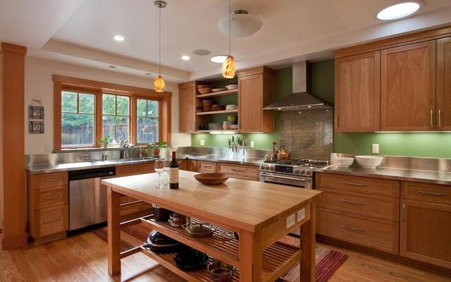 Foursquare Green Home 2010 contemporary-kitchen