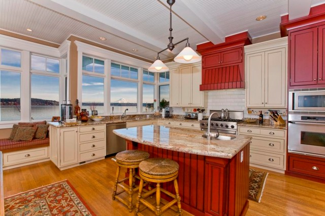 Fox Island Home traditional-kitchen