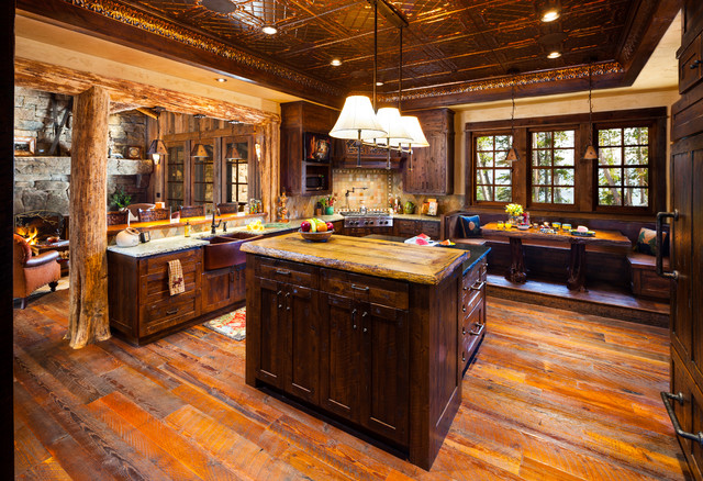 Foxtail Residence - Rustic - Kitchen - Denver - by Teton Heritage Builders