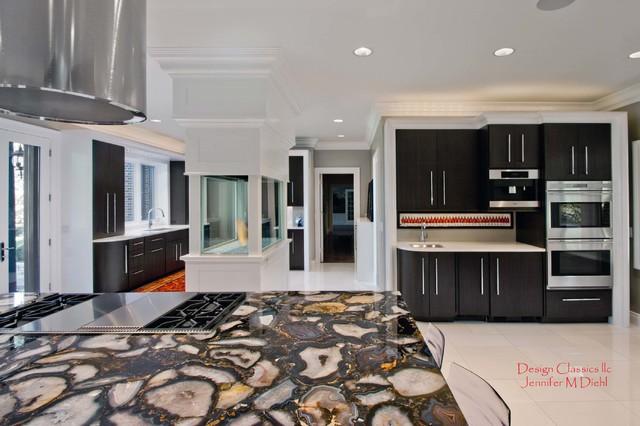 Trendy kitchen photo in Detroit