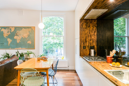 kitchen with wall arts