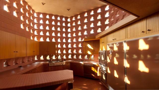 Frank Lloyd Wright Ablin House, Bakersfield, California Modern Kitchen