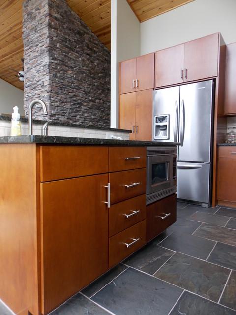 frank lloyd wright inspired cottage modern kitchen other by covenant woodworks. Black Bedroom Furniture Sets. Home Design Ideas