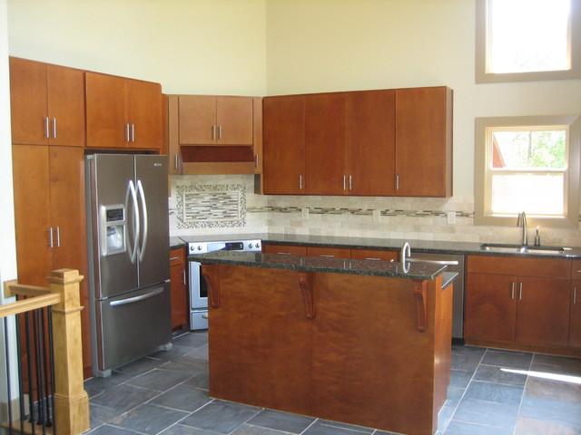 Frank lloyd wright inspired home modern kitchen for Frank lloyd wright kitchen ideas