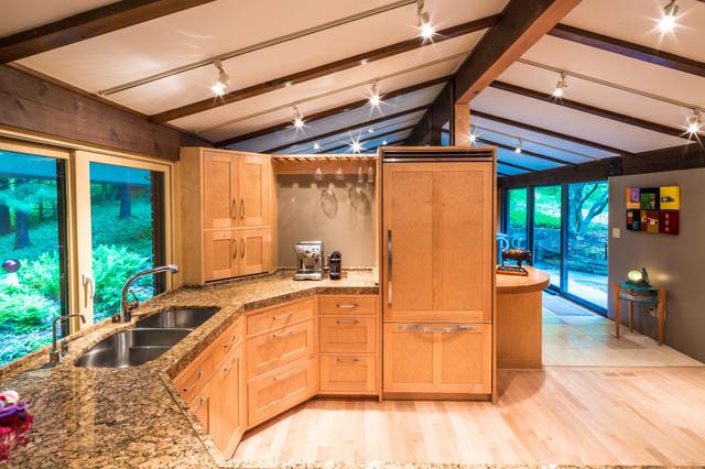 Frank Lloyd Wright Inspired House Modern Kitchen Cincinnati