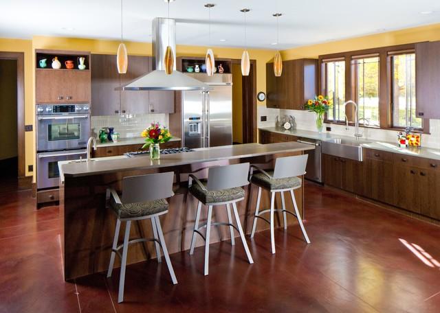 frank lloyd wright inspired house craftsman kitchen denver by porchfront homes. Black Bedroom Furniture Sets. Home Design Ideas