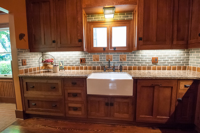 frank lloyd wright inspired kitchen craftsman kitchen