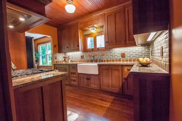 Frank Lloyd Wright Inspired Kitchen Craftsman Kitchen