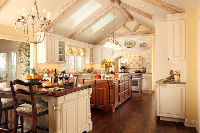 Franklin Lakes French Manor traditional-kitchen