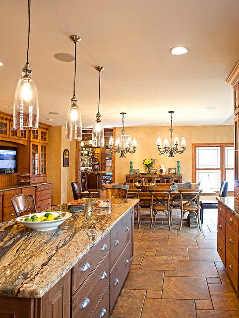 Freehold Nj Project By Wisconsin Log Homes Rustic Kitchen