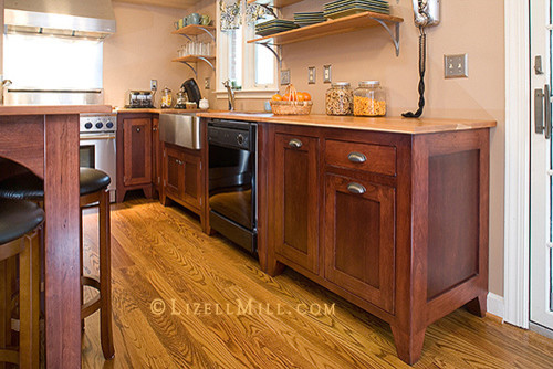 Freestanding Kitchen Cabinets & Freestanding Kitchen Cabinets - American Traditional - Kitchen ...