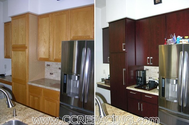 Fremont Kitchen Reface 1 - Modern - Kitchen - san francisco - by Custom Cabinet Refacing