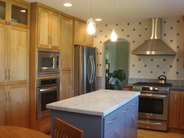 Blue kitchen contemporary-kitchen