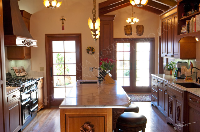 French Art Nouveau Inspired Kitchen Traditional