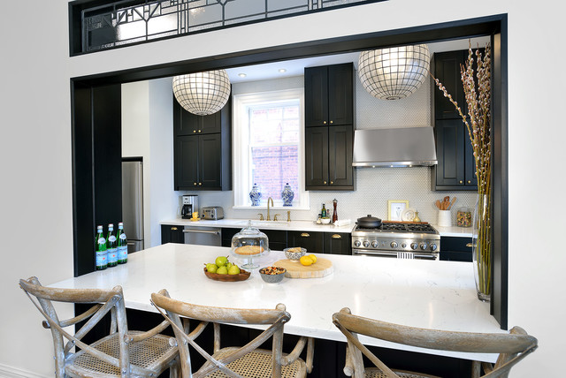 French Bistro Inspired Kitchen (Riverdale, Toronto) - Traditional ...