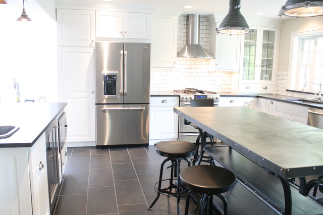 Beau Inspiration For An Industrial Kitchen Remodel In New York